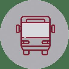 Servicio de transporte escolar en el Colegio Erain en Irún.
