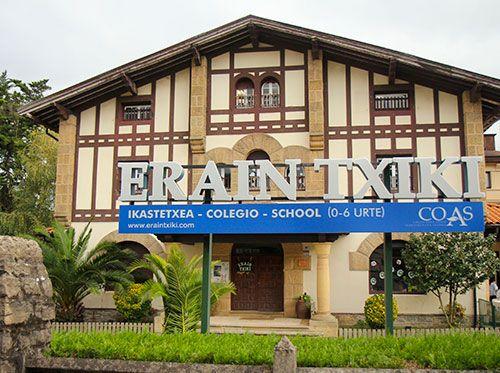 Fachada del Colegio Erain Txiki en Irún.