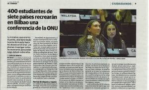 MUN Bilbao 2020: la ONU en modo joven